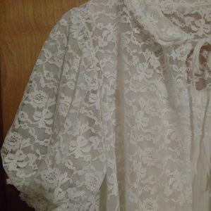 Vintage Lisette Al Sterling lace pignoir and gown
